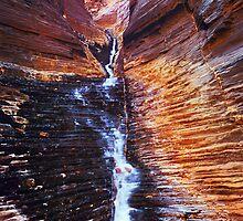 Hancock Chute - Karijini N.P.  Western Australia by Mark Shean