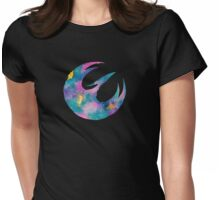 Watercolor Sabine (black) Womens Fitted T-Shirt