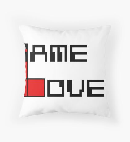 Game over Lame Lover! Throw Pillow