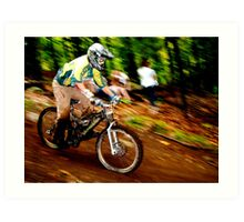 Downhill Racing at Sunday River Art Print
