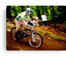 Downhill Racing at Sunday River Canvas Print