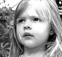 Sun Shining On Little Girl's Face by Evita