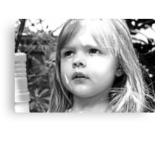 Sun Shining On Little Girl's Face Canvas Print