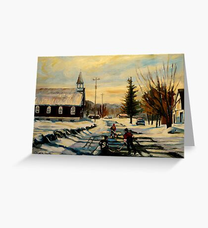 MONTREAL WEST HOCKEY GAME Greeting Card