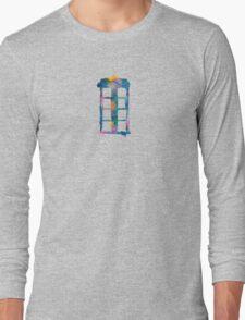 Watercolor Tardis (black)  T-Shirt