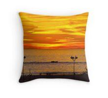 Beach Sunset - Santa Monica, California Throw Pillow
