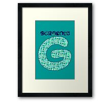 Alphabet - Gorgeous G Framed Print