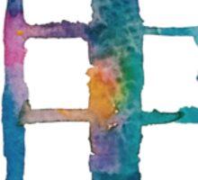 Watercolor Tardis (white) Sticker