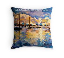In Search For America's Freedom Throw Pillow