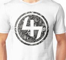 47 BLACK GANGSTER BANDANA PATTERN CIRCLE Unisex T-Shirt