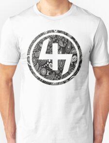 47 BLACK GANGSTER BANDANA PATTERN CIRCLE T-Shirt
