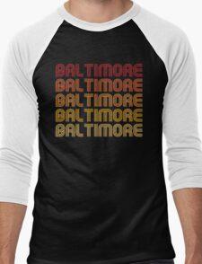 Retro Baltimore  Men's Baseball ¾ T-Shirt