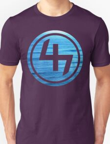 47 OCEAN BLUE WAVES CIRCLE T-Shirt