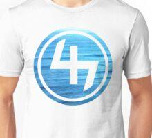 47 OCEAN BLUE WAVES CIRCLE Unisex T-Shirt