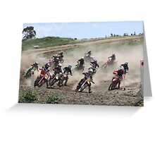 Blue rock racers Greeting Card