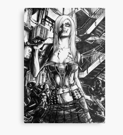 Zombie  Deception Metal Print