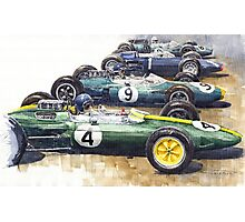 Start British GP 1963 - Lotus  Brabham  BRM Photographic Print