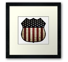 US Flag Shield Framed Print