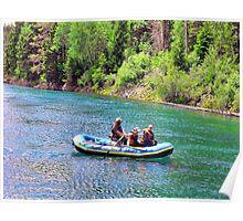 Rafting at Glacier Poster