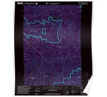 USGS Topo Map Oregon Rooster Rock 281316 1997 24000 Inverted Poster
