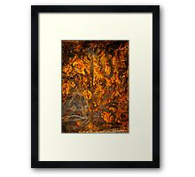Rusty Abstract Framed Print