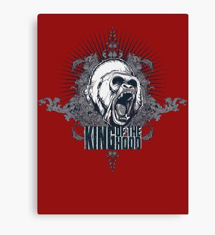 King of the Hood! Silverback Gorilla Hood T-Shirt Canvas Print
