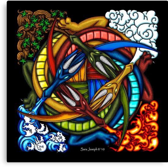 Elemental Celtic Dragon Knot by sjoseph