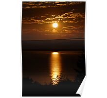 Sunset over Vancouver Island Poster