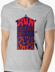Run You Clever Boy and Remember Me - Doctor Who Mens V-Neck T-Shirt