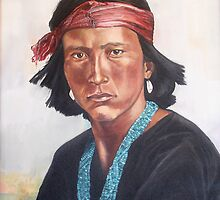 Young Navajo by Peggy Selander