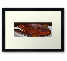 Eggplants in Spicy Sauce Framed Print