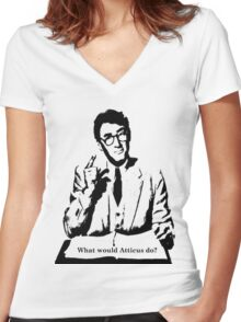 What would Atticus do? Women's Fitted V-Neck T-Shirt