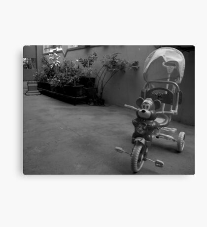 Ride the Tricycle  Canvas Print