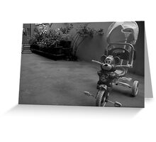 Ride the Tricycle  Greeting Card
