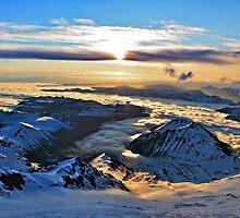 Rainier Sunrise by Aaron  Cromer