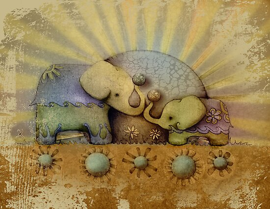 elephant blessing by © Karin Taylor