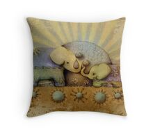 elephant blessing Throw Pillow