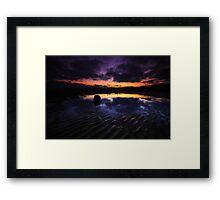 Reflection On The Beach Framed Print