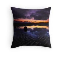 Reflection On The Beach Throw Pillow