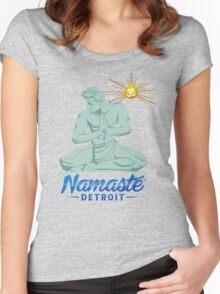 Namaste Detroit Full Color Women's Fitted Scoop T-Shirt