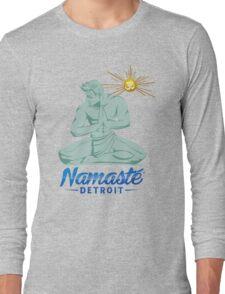 Namaste Detroit Full Color Long Sleeve T-Shirt
