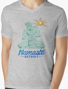 Namaste Detroit Full Color Mens V-Neck T-Shirt