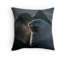 Sea Lions on the Belle Chain Throw Pillow