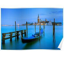 San Giorgio Maggiore  and Gondola - Venice, Italy Poster