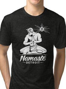 Namaste Detroit Black and White Tri-blend T-Shirt