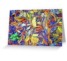 Carribean Carpet Greeting Card