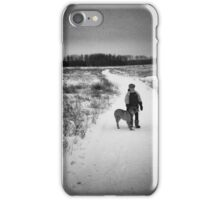 out for a walk iPhone Case/Skin