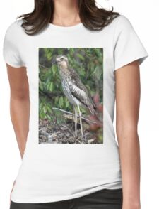 Bush Thick-knee Womens Fitted T-Shirt