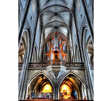 Pipe Organ - St. James Cathedral, Rothenburg ob der Tauber. Photographic Print