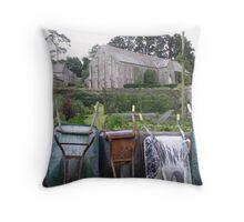 Wheelbarrows at Buckland Abbey Throw Pillow